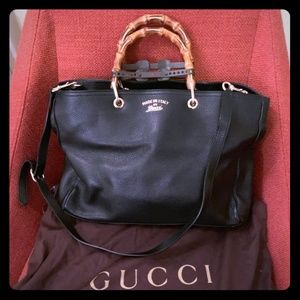 Beautiful Gucci Textured-Leather Shopper Tote
